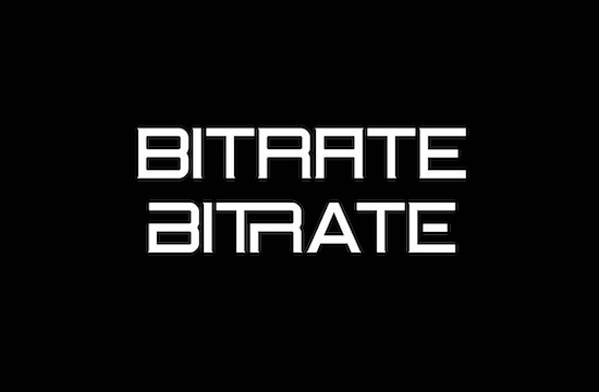 Bitrate font