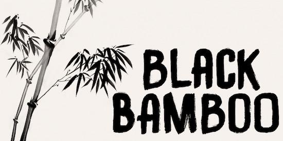 Black Bamboo font