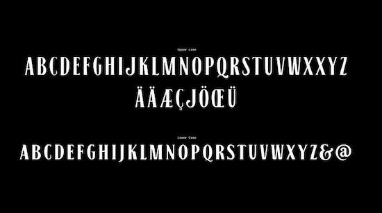 Black No. 7 font download