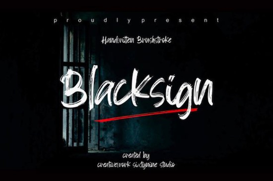Blacksign font free download