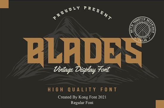 Blades font download