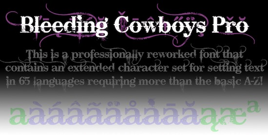 Bleeding Cowboys Pro font free download