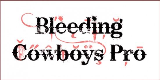 Bleeding Cowboys Pro font