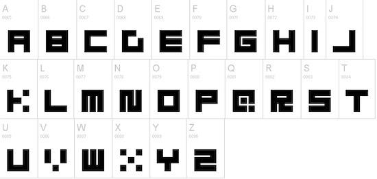 Block font download