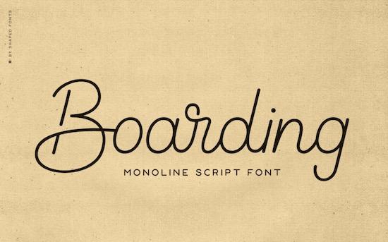 Boarding font free