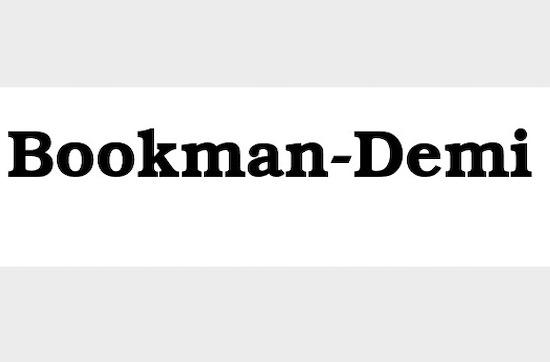Bookman Demi font