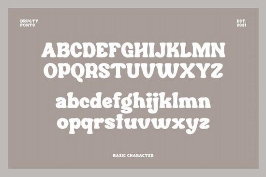 Brugty font download