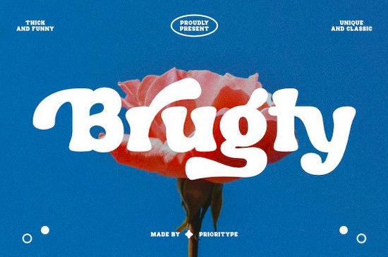 Brugty font free download