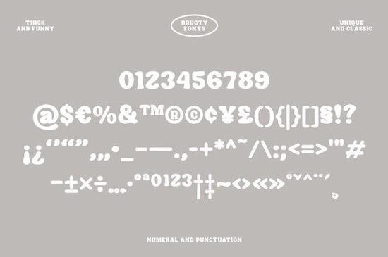 Brugty font free