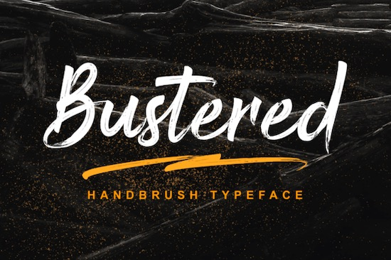 Bustered font free download