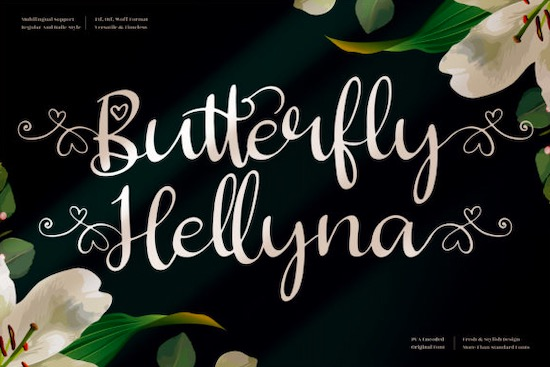 Butterfly Hellyna font free download
