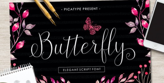 Butterfly font free download