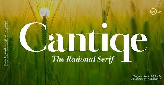 Cantiqe font free download