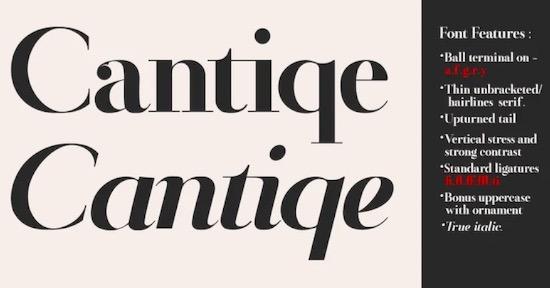 Cantiqe font free