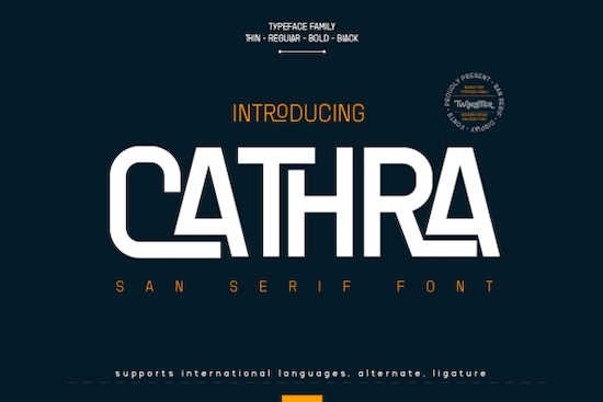 Cathra font free download