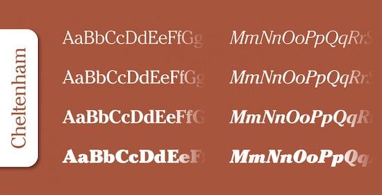 Cheltenham Pro font free download