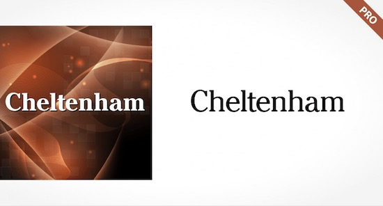 Cheltenham Pro font free