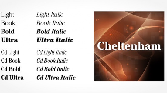 Cheltenham Pro font