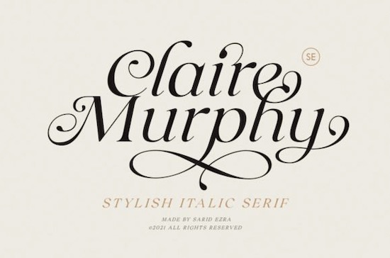 Claire Murphy font free download