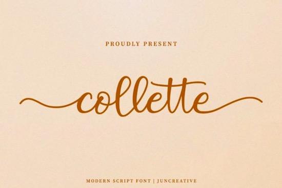 Collette font free download
