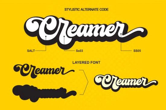 Creamer font download