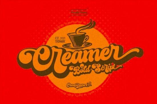 Creamer font free download