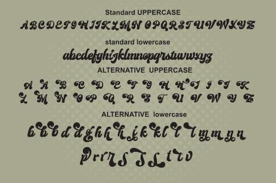 Creamer font free