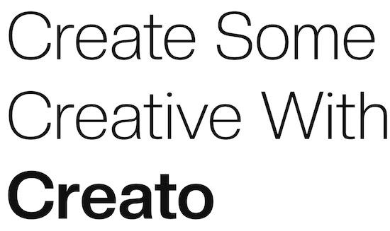 Creato font