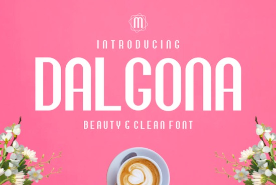 Dalgona Sans Serif font free download