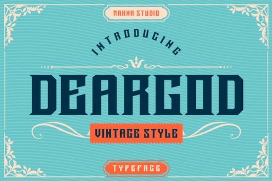Deargod font free download