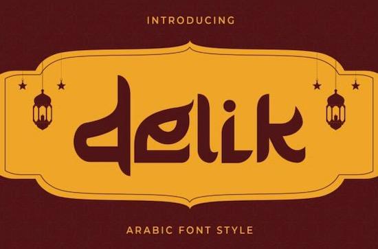 Delik font free download