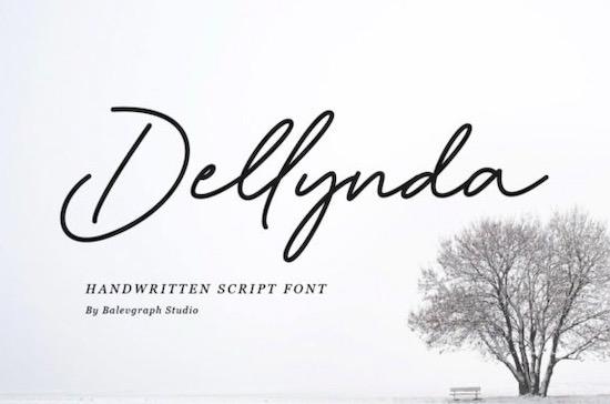 Dellynda font free download