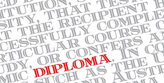 Diploma font free