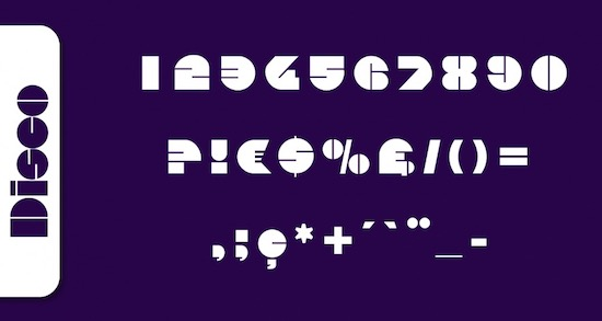 Disco font free