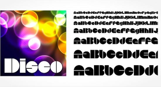 Disco font