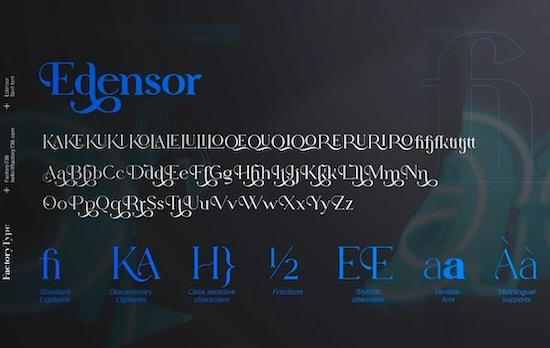 Edensor font free