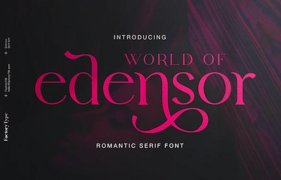 Edensor font