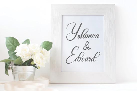 Elegant Wedding font download