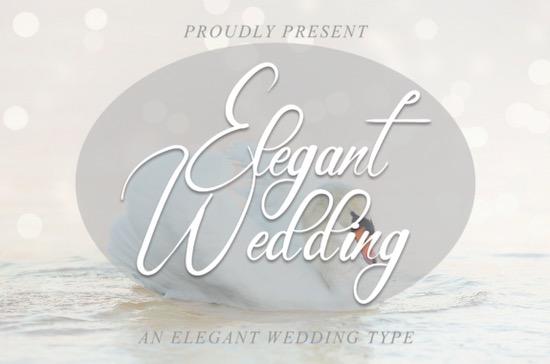 Elegant Wedding font free download