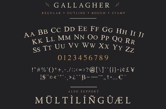 Gallagher font download