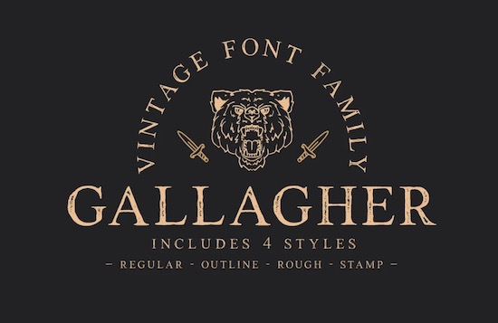 Gallagher font free download