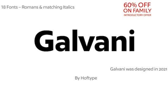 Galvani font free download