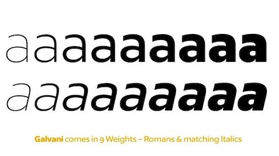 Galvani font