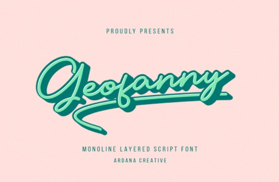 Geofanny font free download