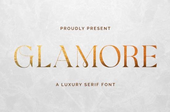 Glamore font free download