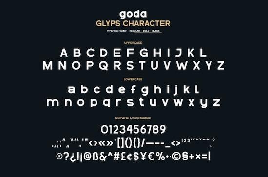 Goda font download
