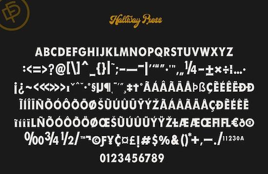 Hallway font