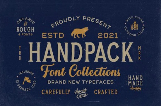 Handpack font free download