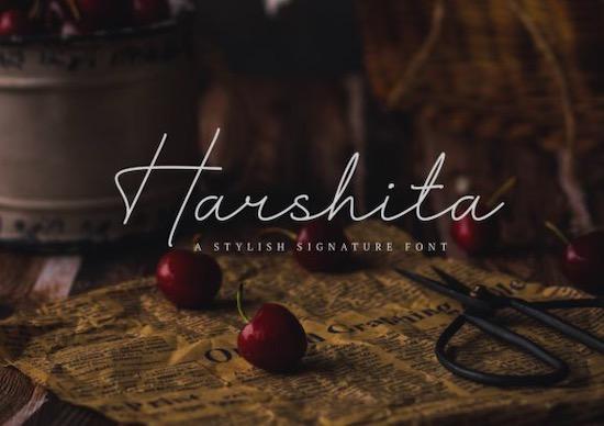 Harshita font free download