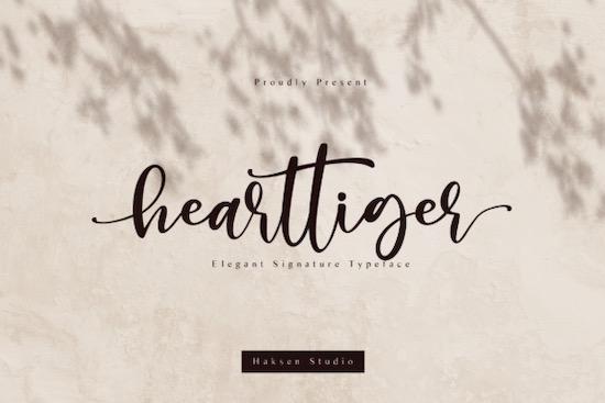 Hearttiger font free download